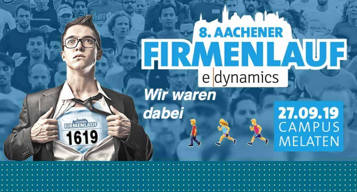 e-dynamics beim 8. Aachener Firmenlauf