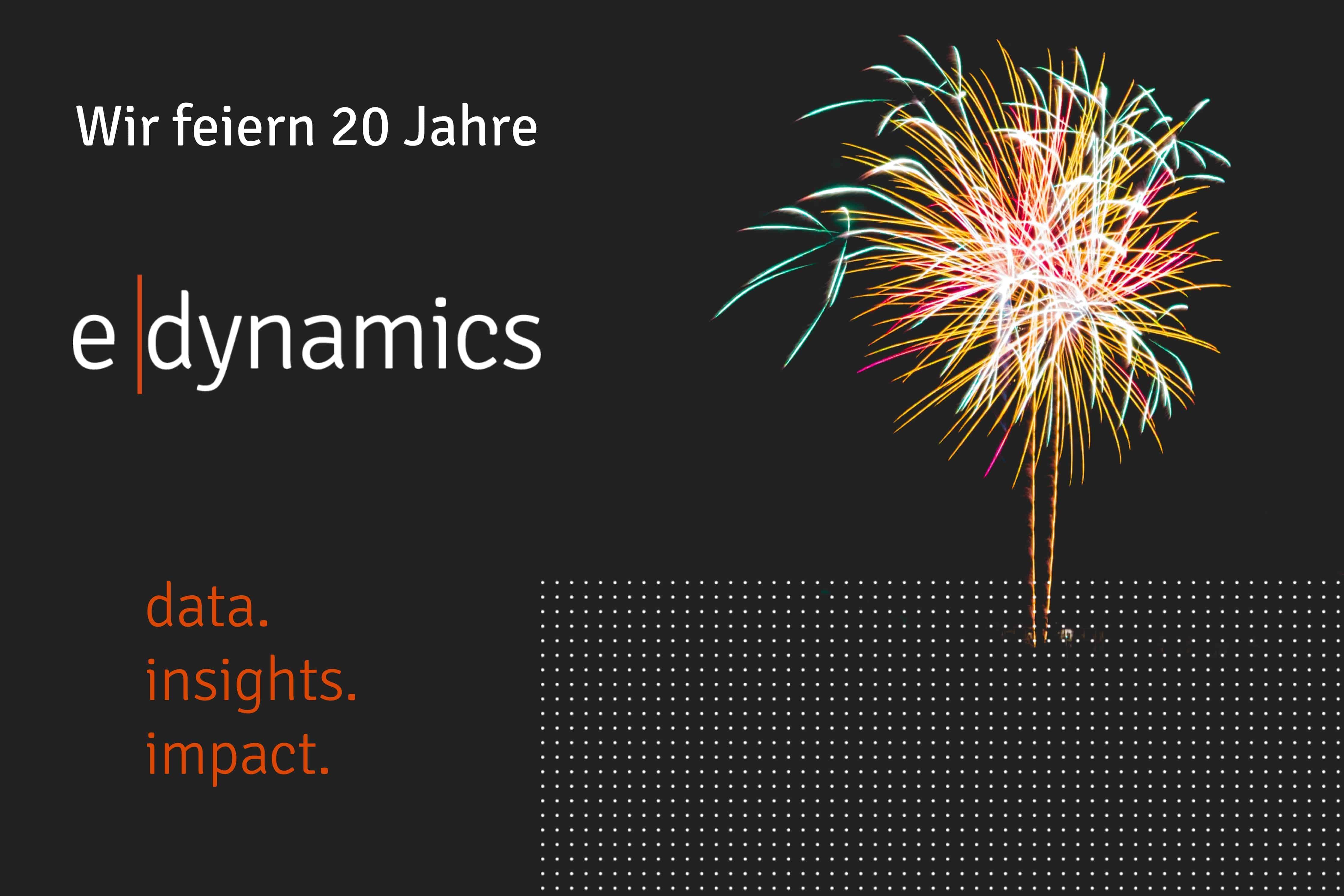 Firmenjubiläum 20 Jahre e-dynamics GmbH