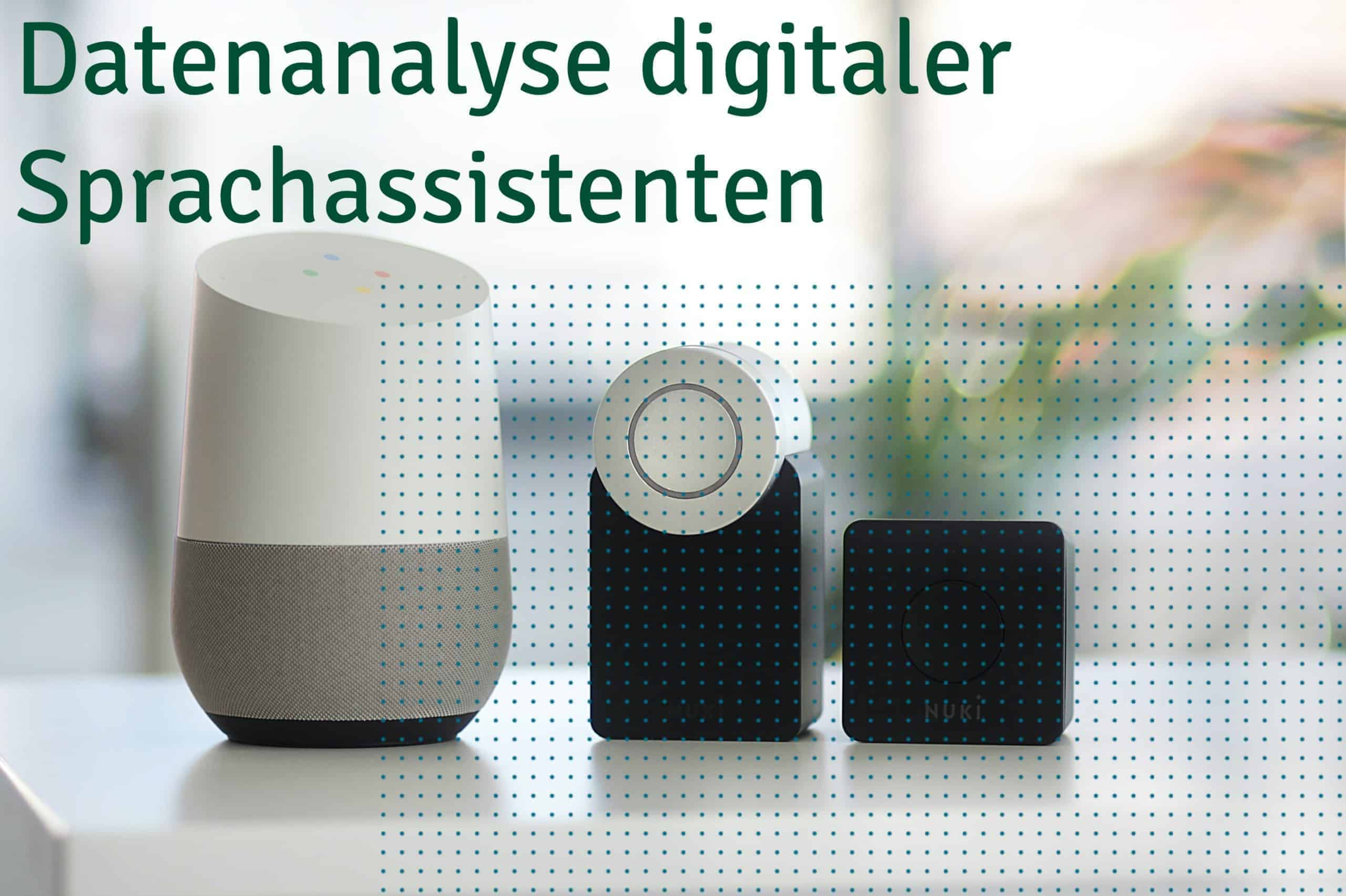 Blog Titel Datenanalyse digitaler Sprachassistenten